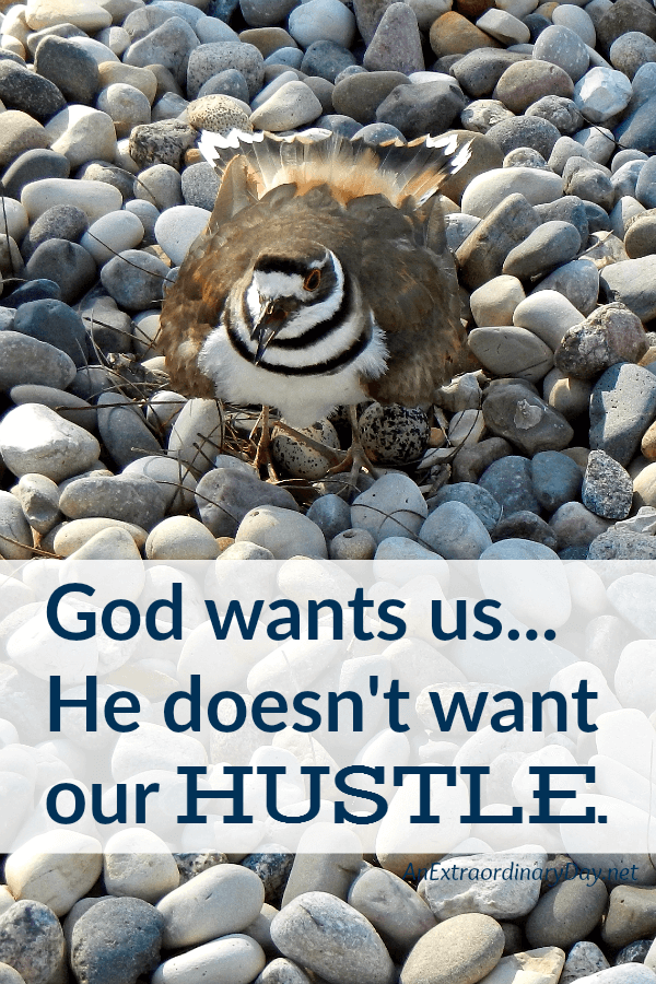 "We NEED this Devotional Meditation to Remind us that ""God doesn't want our hustle."""
