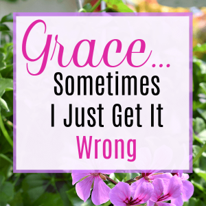 Grace…  Sometimes I Just Get It So Wrong. | JoyDay!
