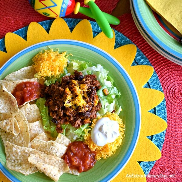 It's a party for your taste buds! Delicious EASY beef taco meat recipe for Cinco de Mayo -