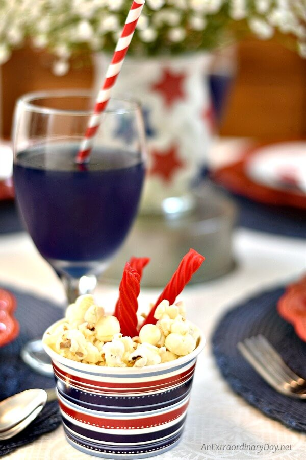 Create a FUN + FESTIVE 4th of July Tablescape with these Quick + EASY Ideas from AnExtraordinaryDay.net