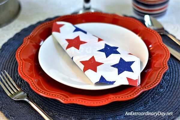 Fancy Red Plates Steal the Show for this Festive 4th of July Tablescape