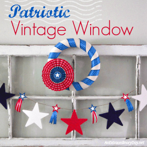 Festive Patriotic Vintage Window
