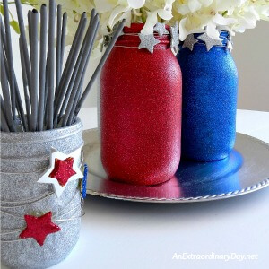 Make you mason jars sparkle for the 4th