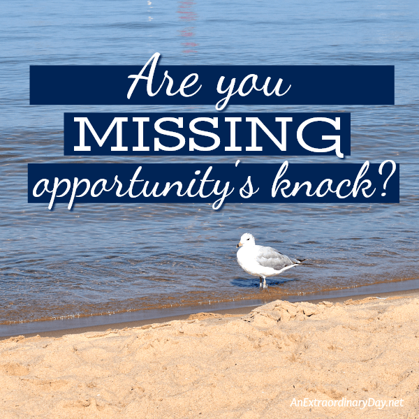 Are you missing opportunity's knock A story devotional
