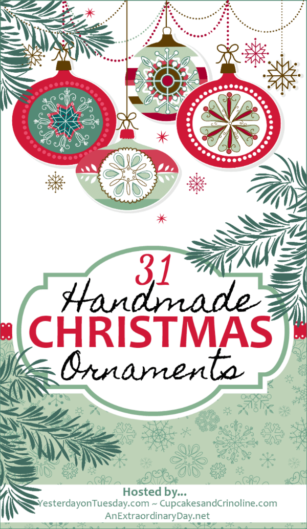31 Handmade Christmas Ornaments Blog Hop - Great tutorial for making rustic Christmas tree ornaments for Christmas home decor