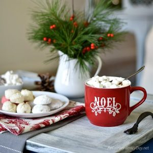 Quick and Easy Way to Make Your Own Modern Farmhouse Christmas Tray Coffee Table