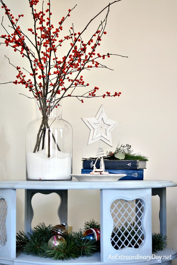 Simple Small Space Christmas Decorating